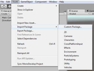 Import assets into unity