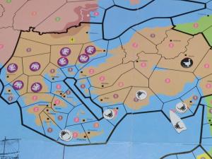 Detailansicht der Ausbreitung von Kreta und Thrakien nach Runde 3