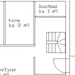 Detail of a 2D floor plan