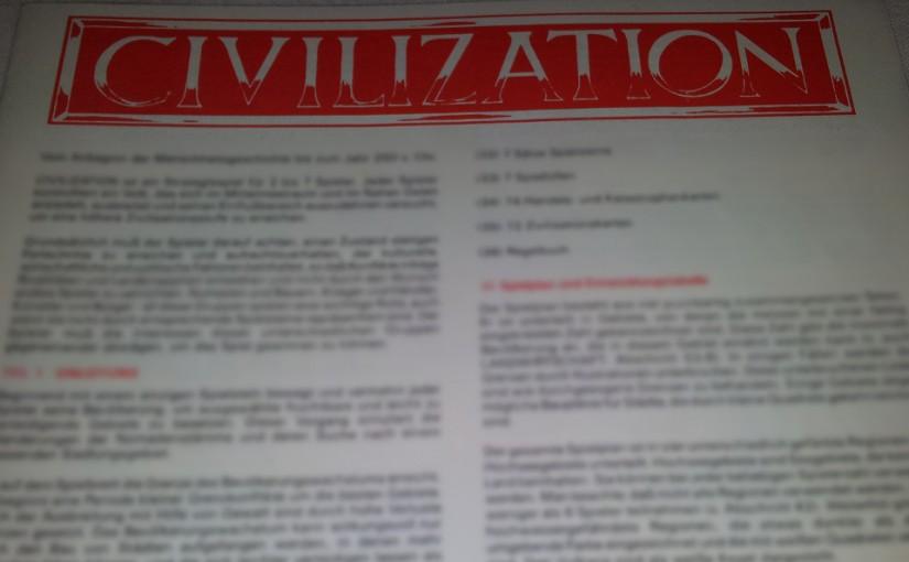 Unsere Hausregeln für Civilization